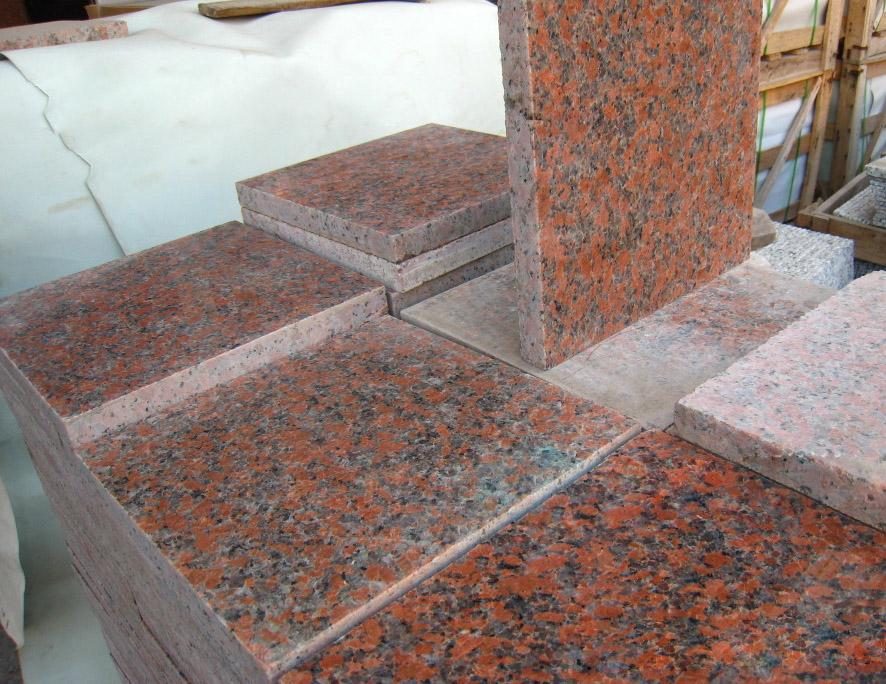 G562 Maple Red Granite Tiles Red Granite Flooring Tiles