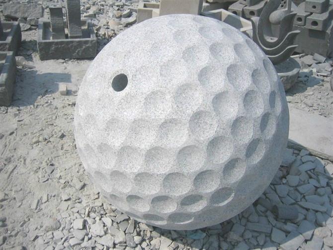 G603 Round White Granite Landscaping Stone