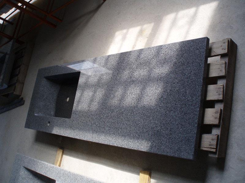 G654 China Impala Black Granite Countertops