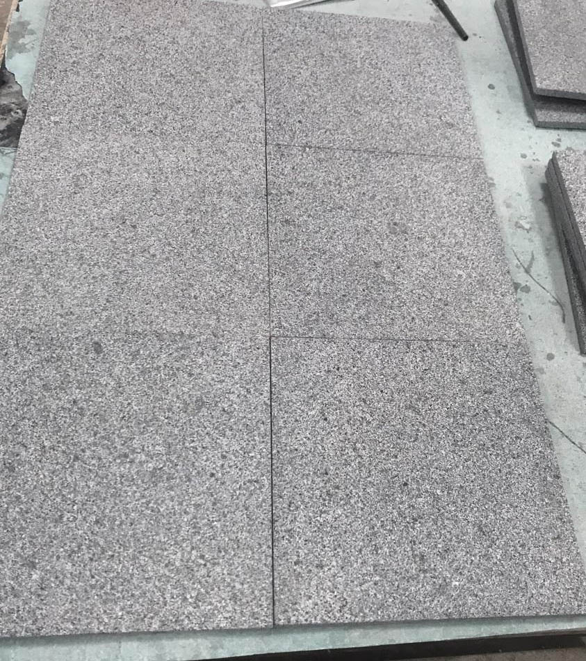 G654 Granite Tile Polished and Flamed Surface