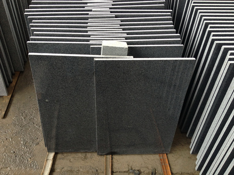 G654 Granite Tiles Dark Grey Granite