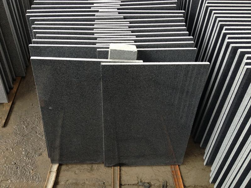 G654 Granite Tiles Dark Grey Granite