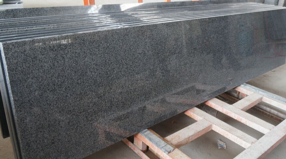 G654 Half Slab Polished Black Granite Slabs