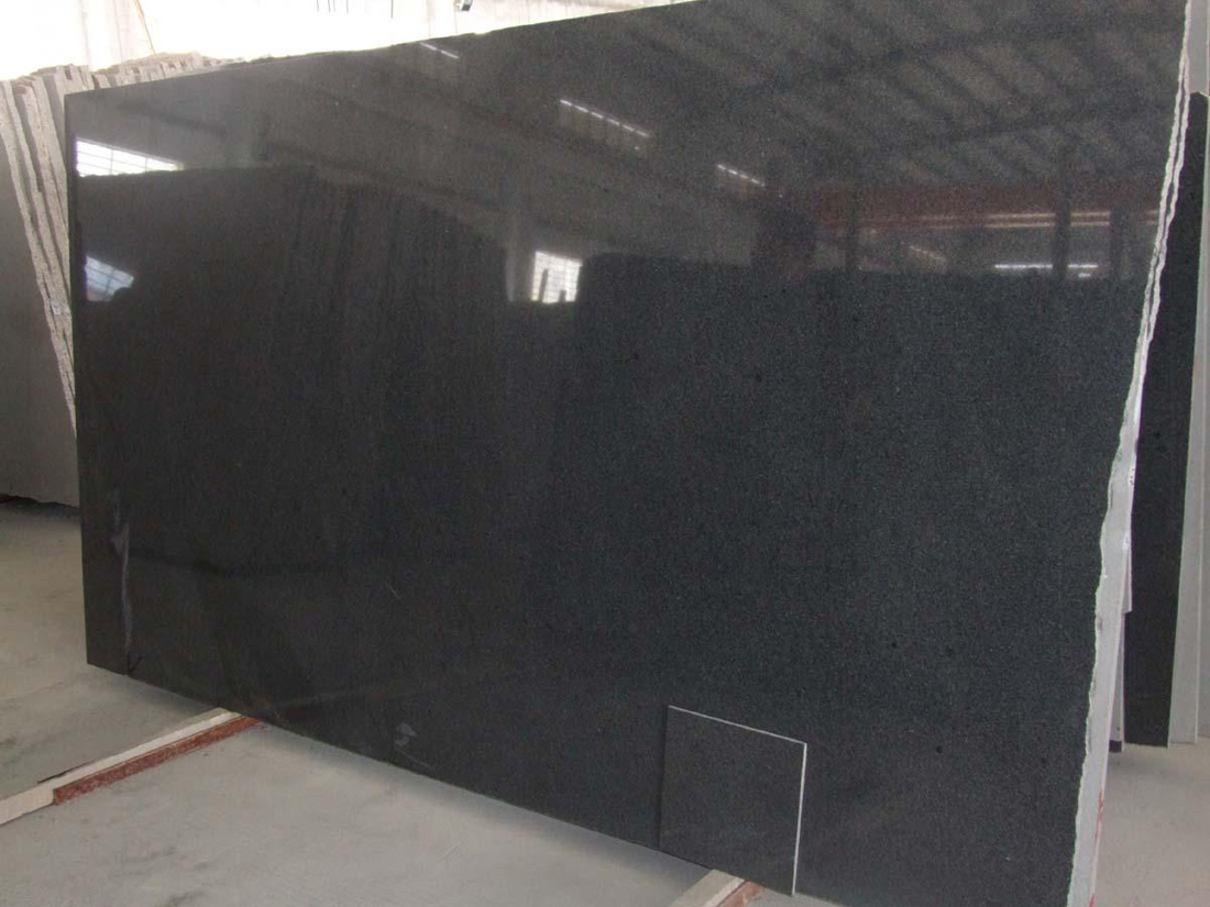 G654 Impala Padang Nero Dark Sesame Black Granite Slabs