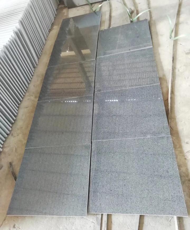G654 Padang Dark Sesame Black Granite Tile