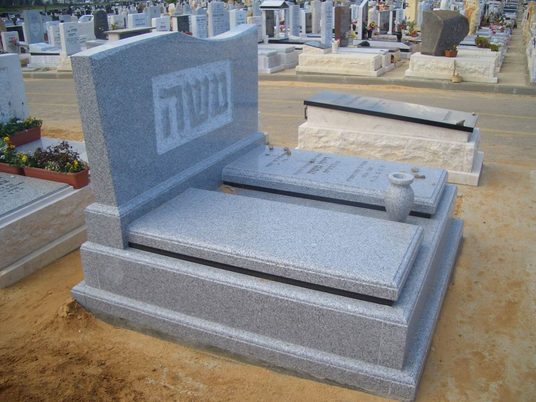 G655 White Granite Tombstones