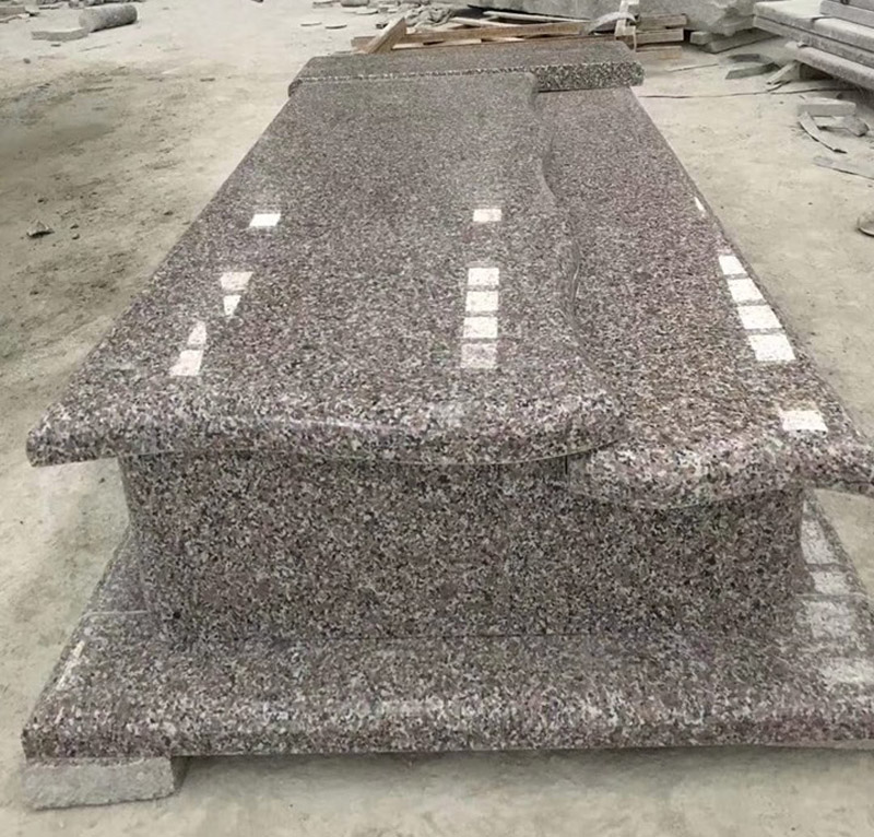 G664 Polished Pink Granite New Tombstone