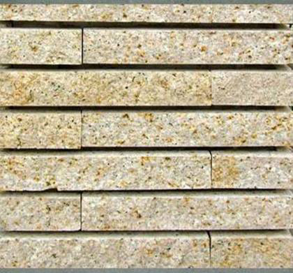 G682 Misty Stone Yellow Granite Split Surface Culture Stone Tiles