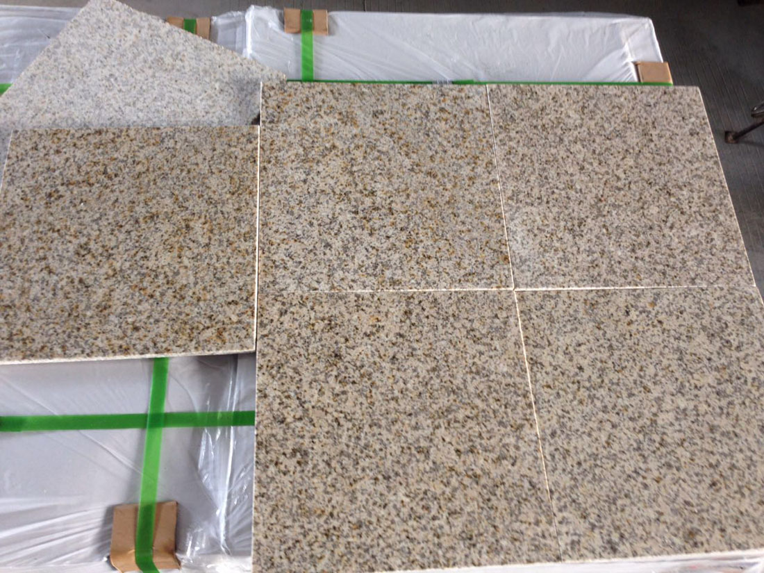 G682 Sunset 10mm Ultra Thin Yellow Beige Granite Tiles