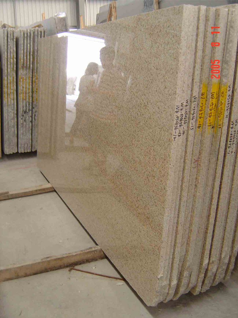 G682 Sunset Golden Yellow Granite Slabs