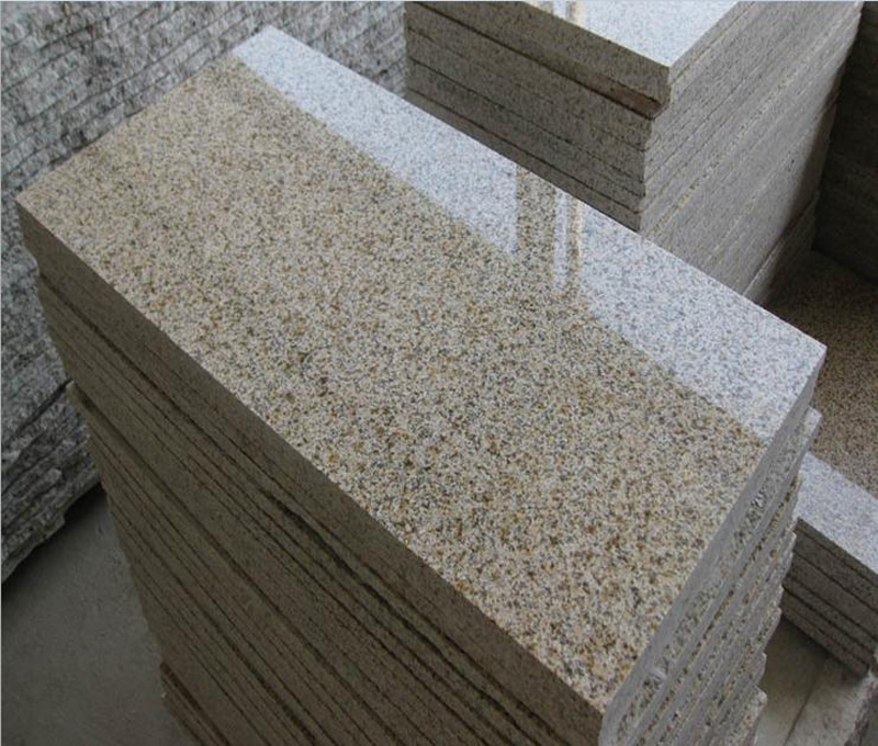 G682 Sunset Yellow Granite Tiles Polished Yellow Granite Tiles