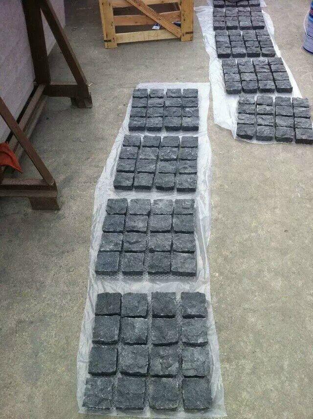 G684 Fuding Black Pearl Cube Stone 10x10x10 Granite Pavers