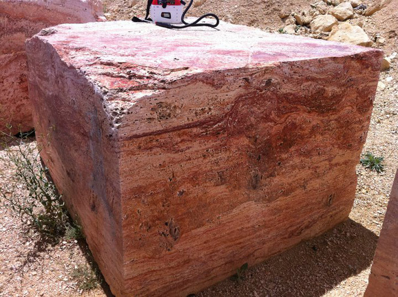 Gala Rose Travertine Blocks Pink Travertine Blocks