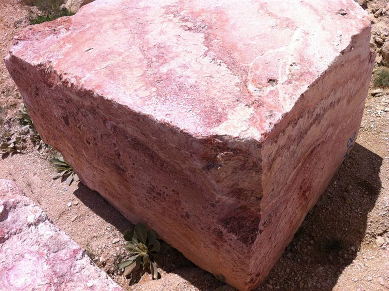 Gala Rose Travertine Blocks Pink Travertine Natural Blocks