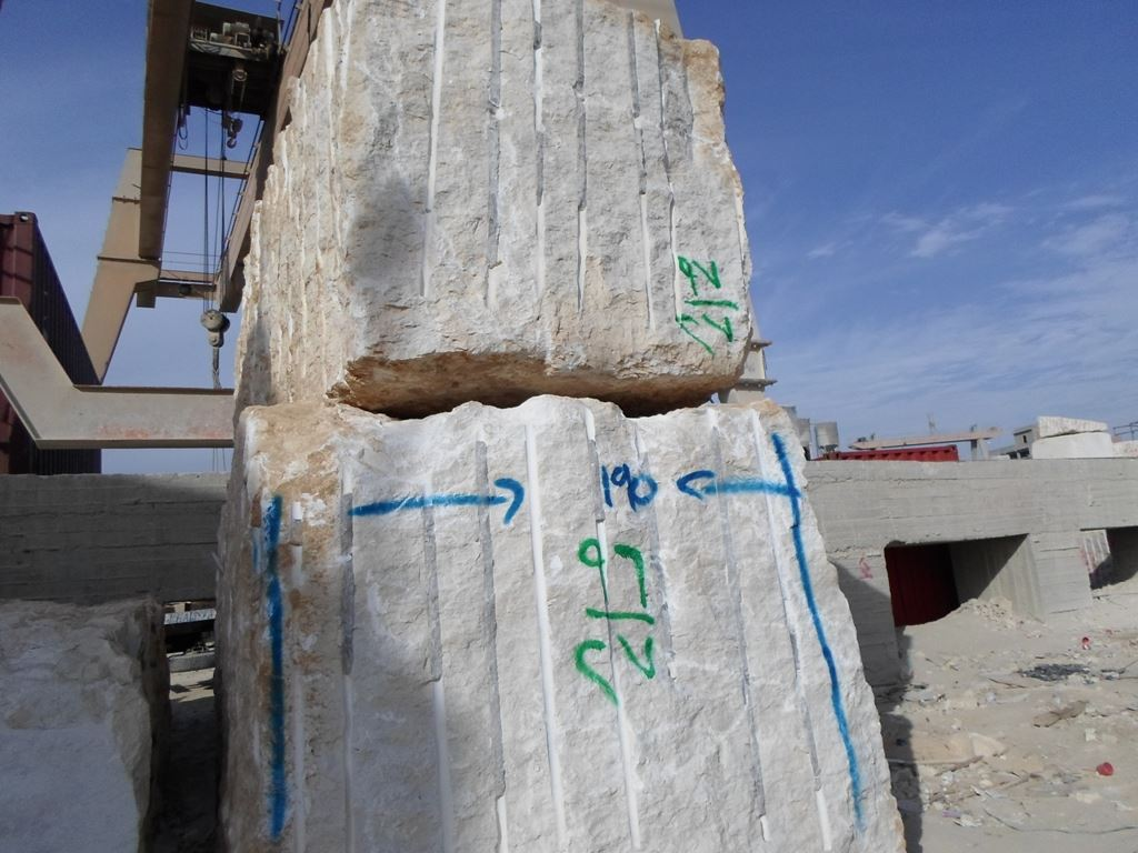 Galala Light Rough Blocks Beige Marble Blocks