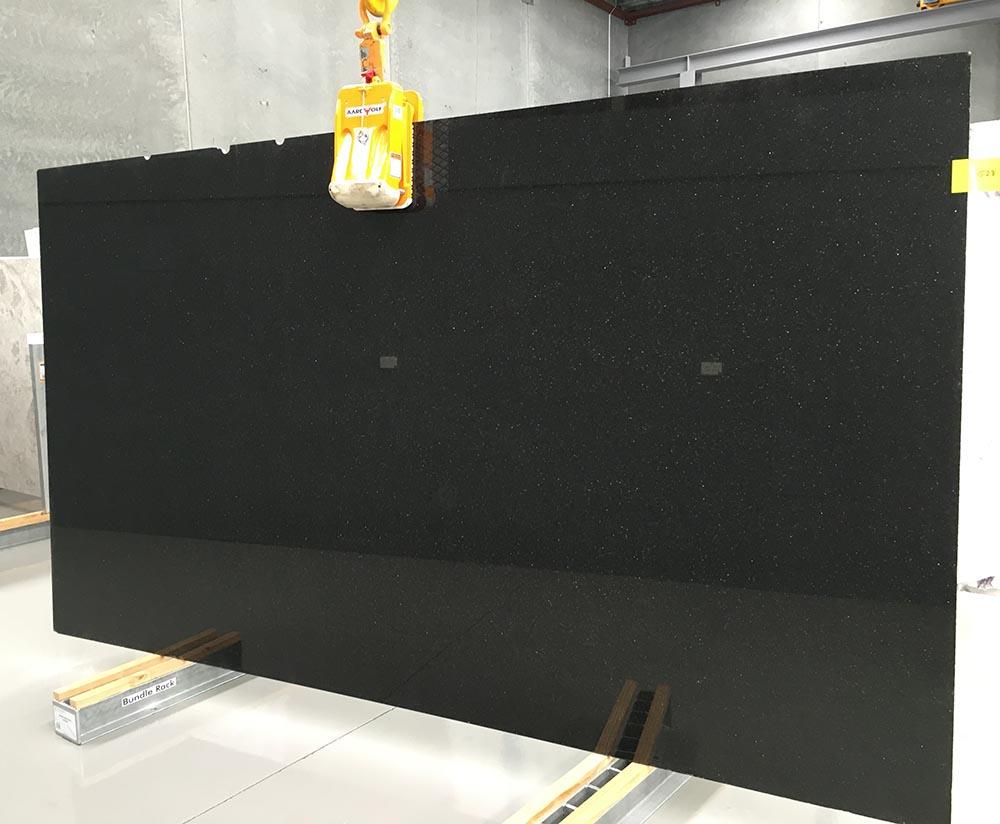Galaxy Black Slab Indian Polished Black Granite Stone Slabs