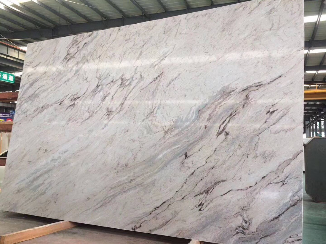 Galaxy Grey Polished Granite Slabs