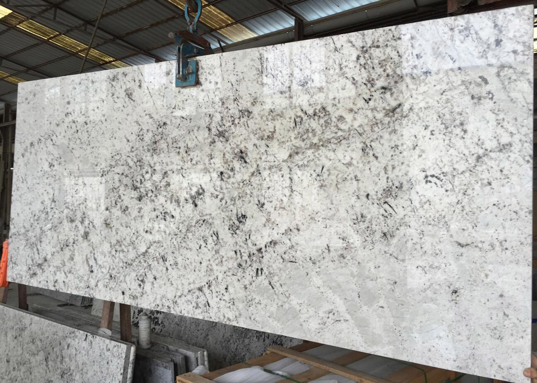 Galaxy White Slab Polished Indian White Granite Slabs