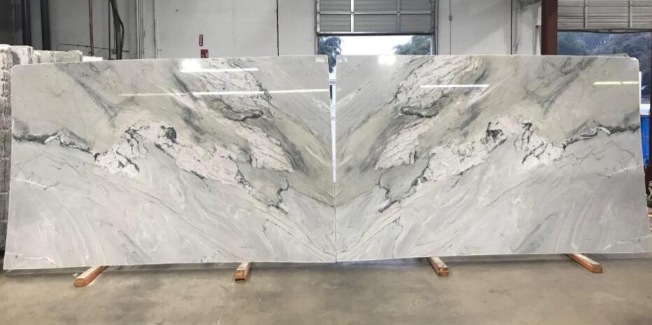 Gemini Quartzite Slabs Polished White Quartzite Slabs