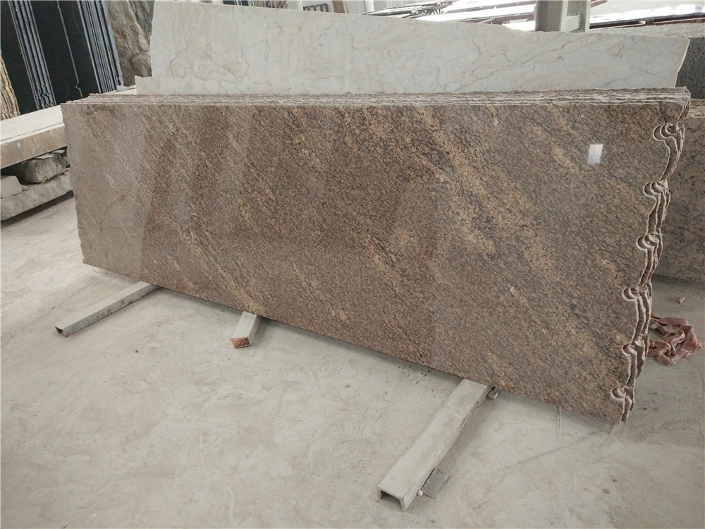 Giallo California Granite Countertops Nice Brown Polished Kitchen Tops