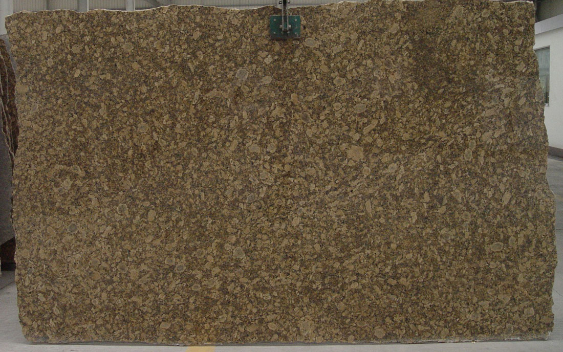 Giallo Fiorito Granite Slab Brown Granite Slabs