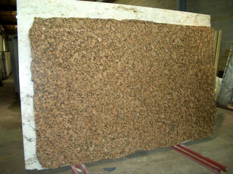 Giallo Fiorito Granite Slab Brown Polished Granite Slabs
