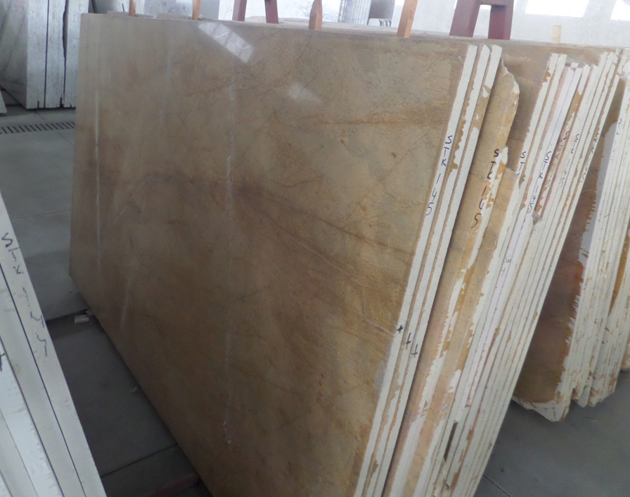 Giallo Marmo Marble Slabs Turkish Polished Yellow Marble Stone Slabs