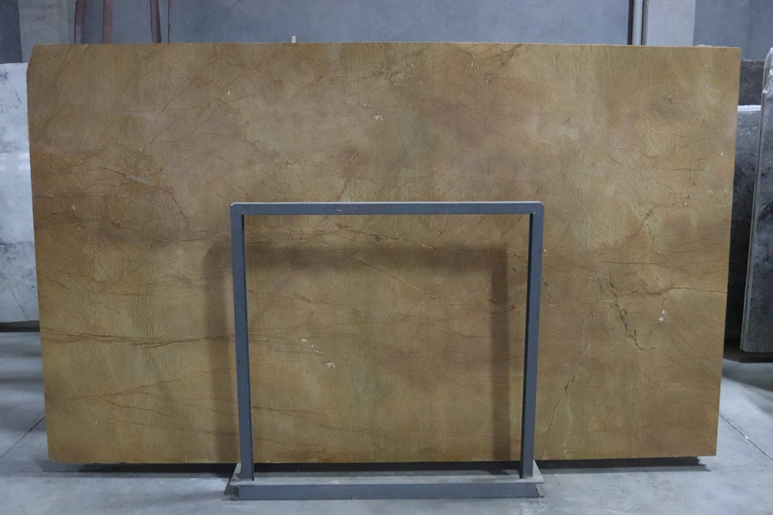 Giallo Marmo Yellow Marble Stone Slabs Turkish Polished Stone Slabs