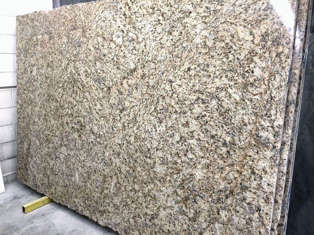 Giallo Napoli Slab Brazil Polished Yellow Granite Slabs