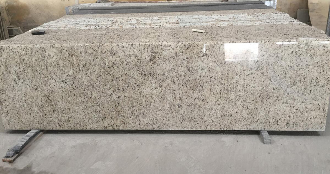 Giallo Ornamental Brazilian White Granite Countertop for