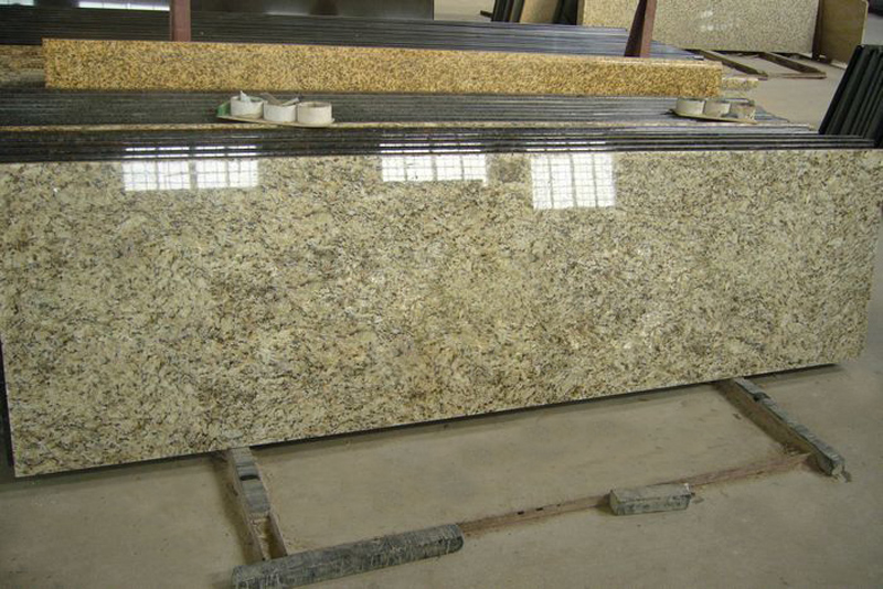 Giallo Ornamental Granite Beige Polished Granite Countertops