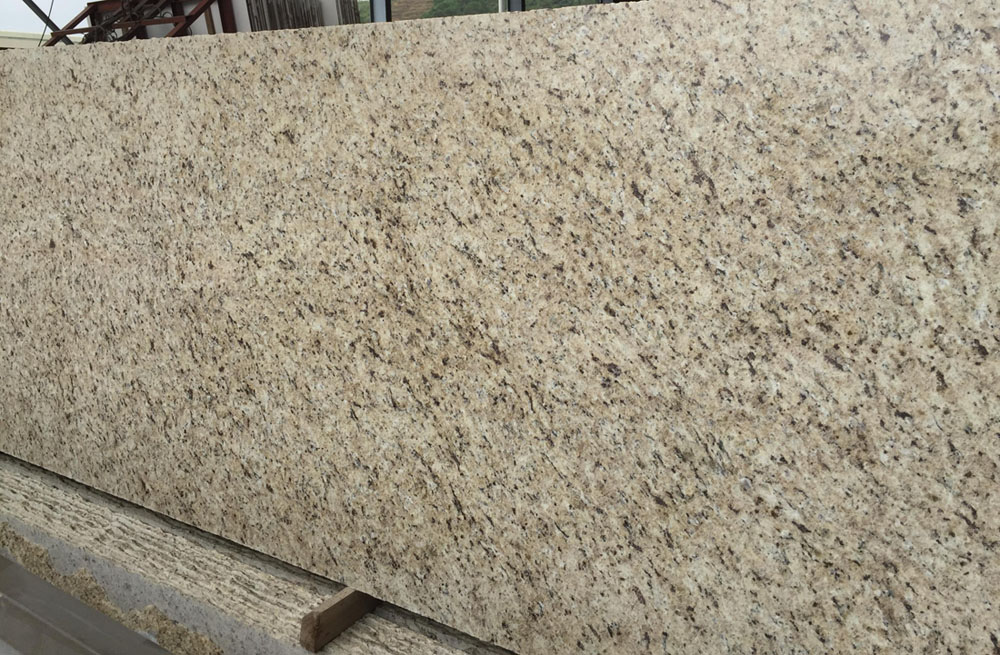 Giallo Ornamental Granite Slabs Brazilian Beige Granite Slabs
