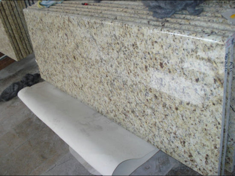 Giallo Ornamental Granite Traditional Kitchen Tops