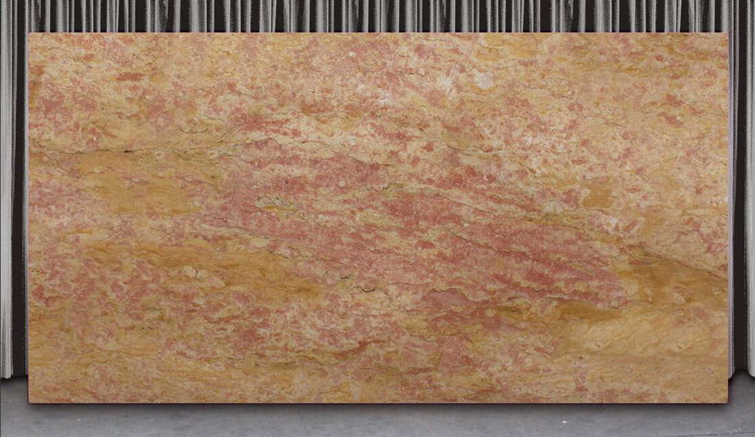 Giallo Reale Pink Marble Slabs Spain Polished Marble Stone Slabs