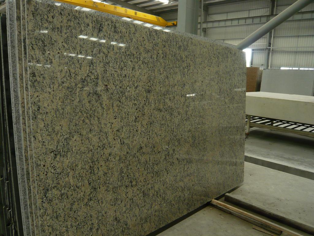 Giallo Santa Cecilta Slabs Polished Yellow Granite Stone Slabs