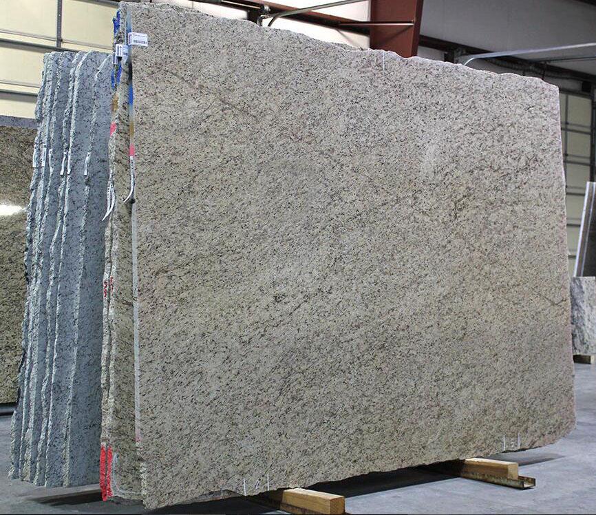 Giallo Santo Granite Slabs Brazilian Yellow Granite Slabs for Countertops