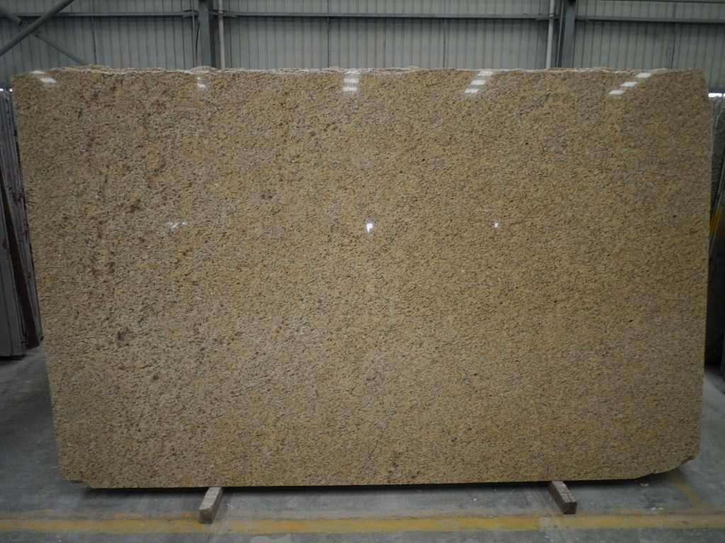 Giallo Topazio Granite Slabs Yellow Polished Granite Slabs