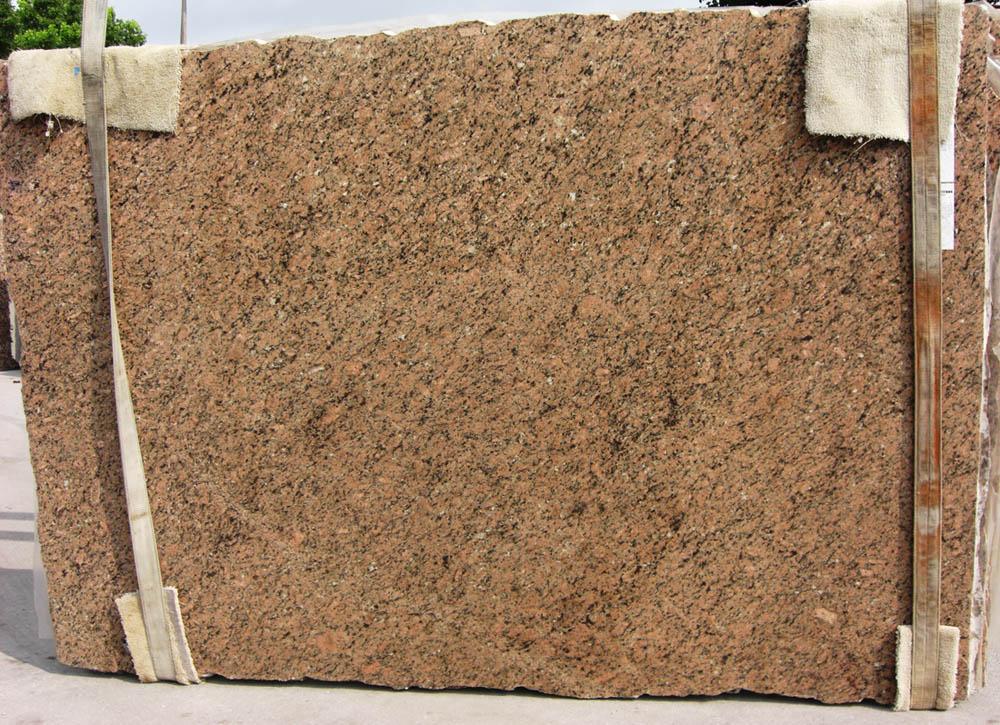 Giallo Veneziano Slab Brazil Polished Brown Granite Stone Slabs
