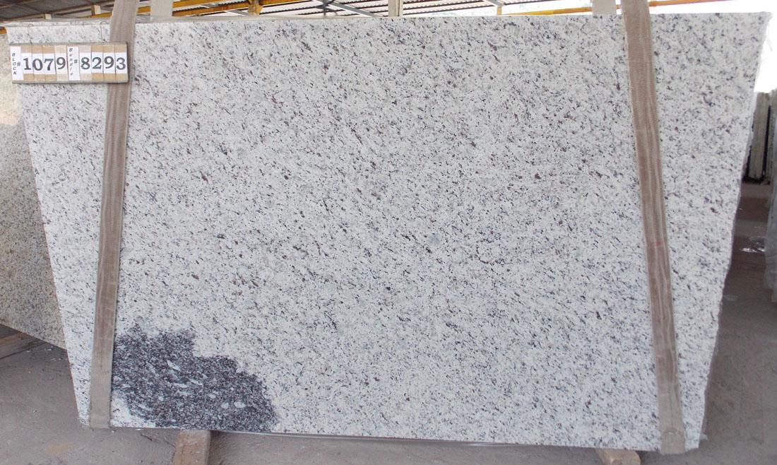 Giallo White Granite Slabs Polished White Granite Slabs for Countertops