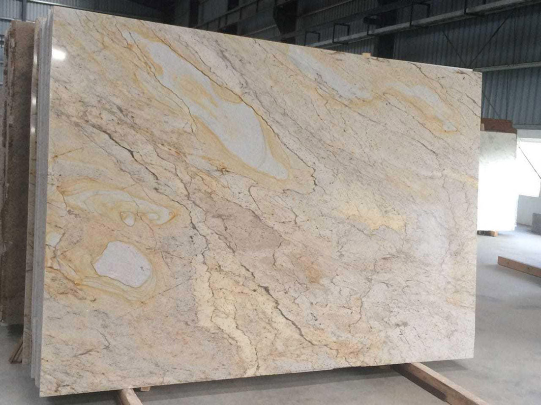 Glorious Gold Granite Slabs Polished Beige Granite Slabs