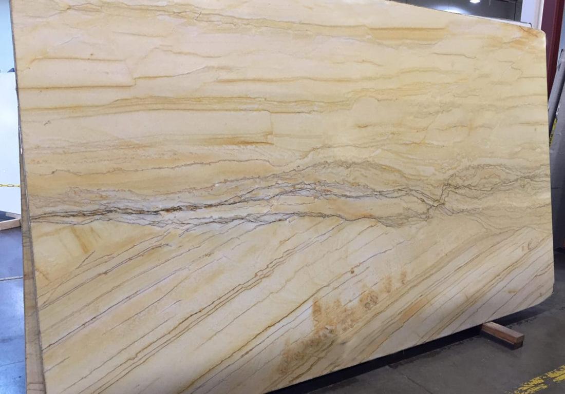 Gold Macaubus Quartizte Slab Polished Yellow Quartzite Stone Slabs