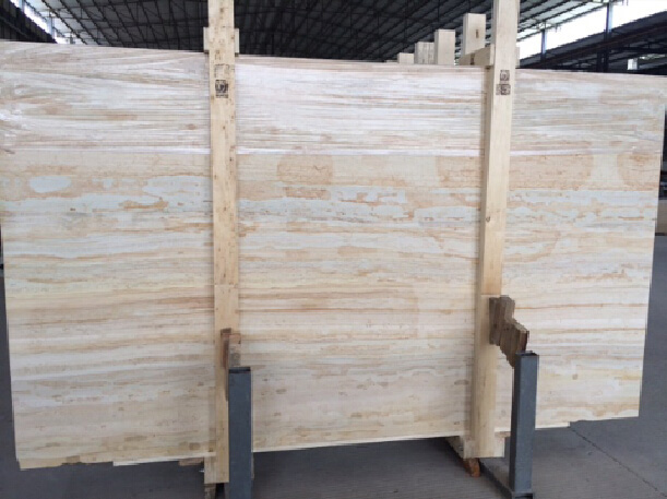 Gold Wood Marble Polished Marble Slabs