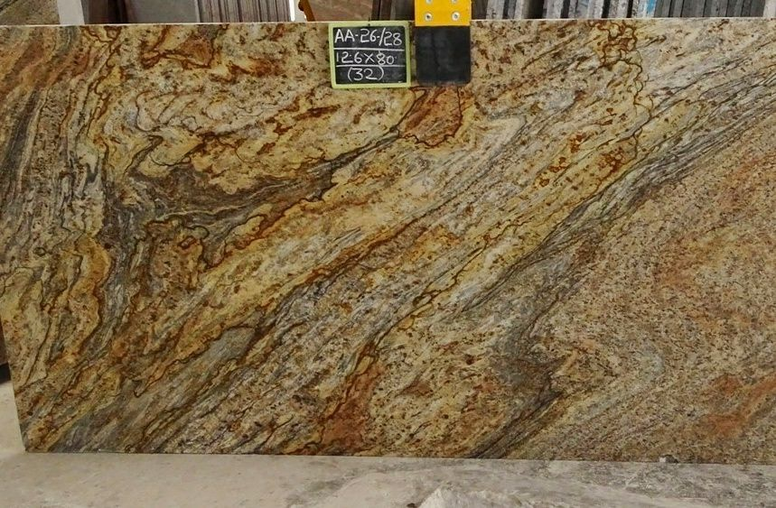 Golden Beach Granite Polished Yellow Granite Slabs