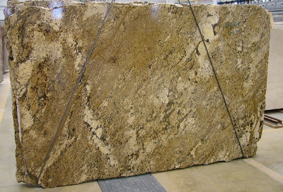 Golden Beach Granite Slabs Yellow Brazilian Granite Polished Slabs