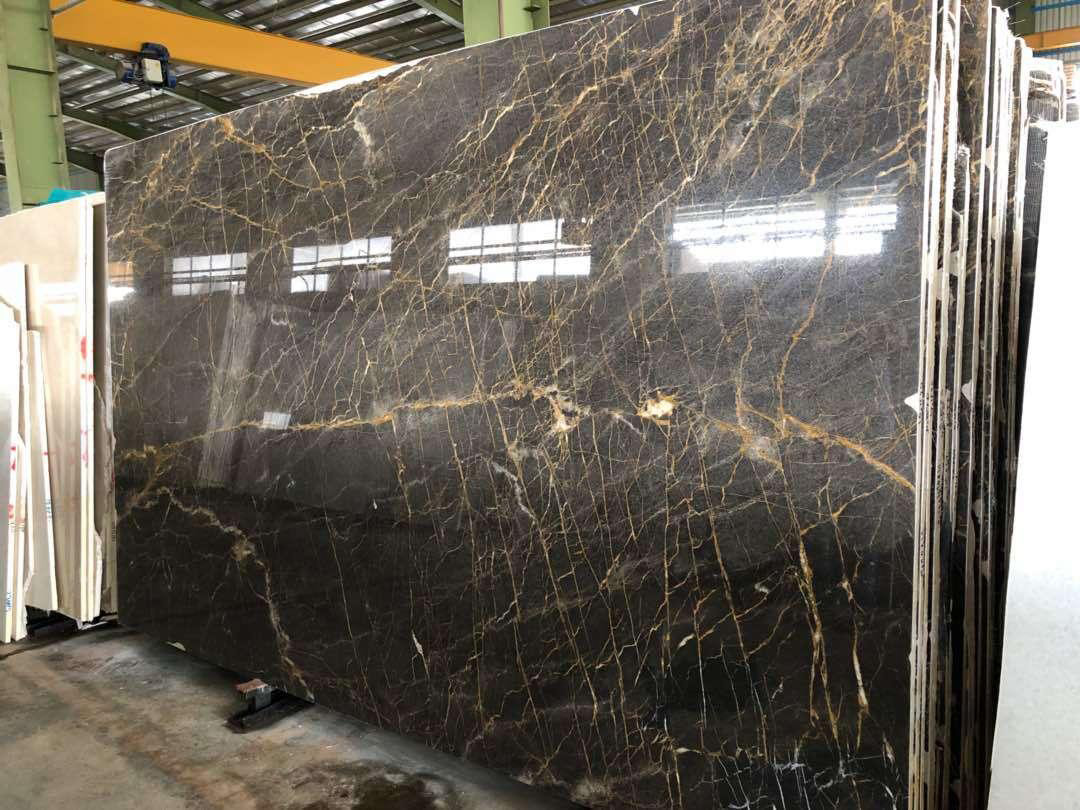 Golden Black Marble Polished Black Marble Slabs from Iran