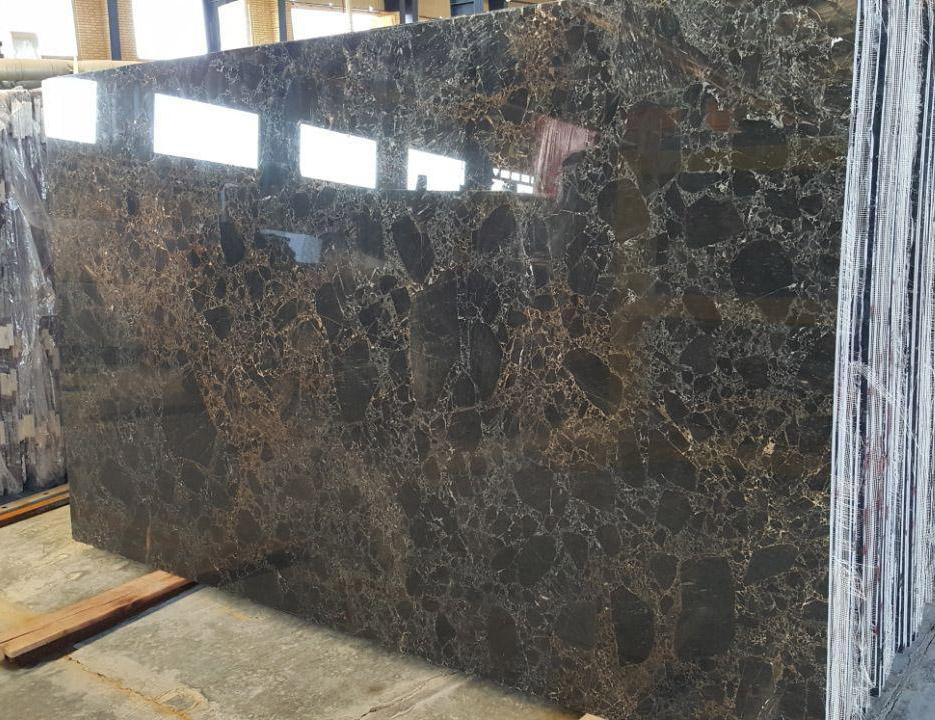 Golden Black Marble Slabs Polished Marble Slabs