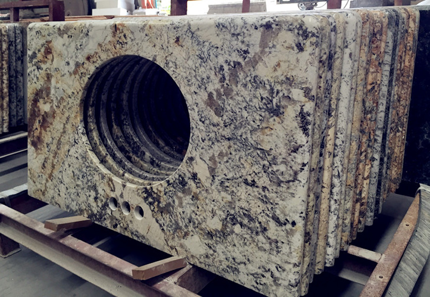 Golden Crema Granite Vanity Tops for Bathroom