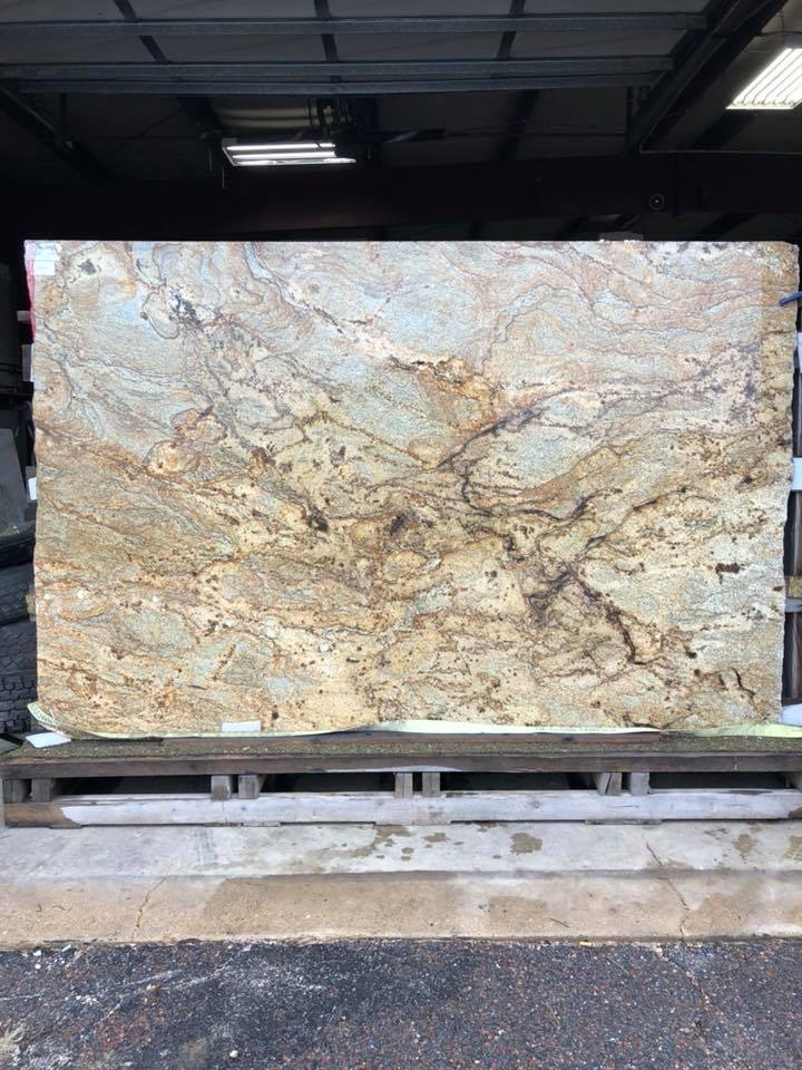 Golden Crystal Granite Slabs Beige Granite Polished Slabs