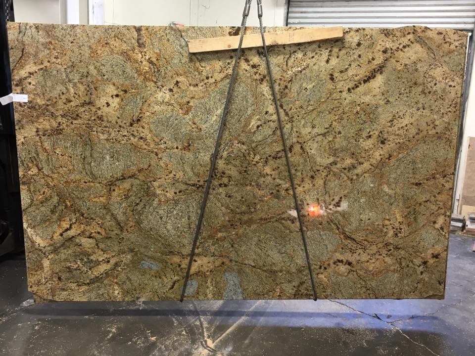 Golden Crystal Granite Slabs Yellow Granite Slabs