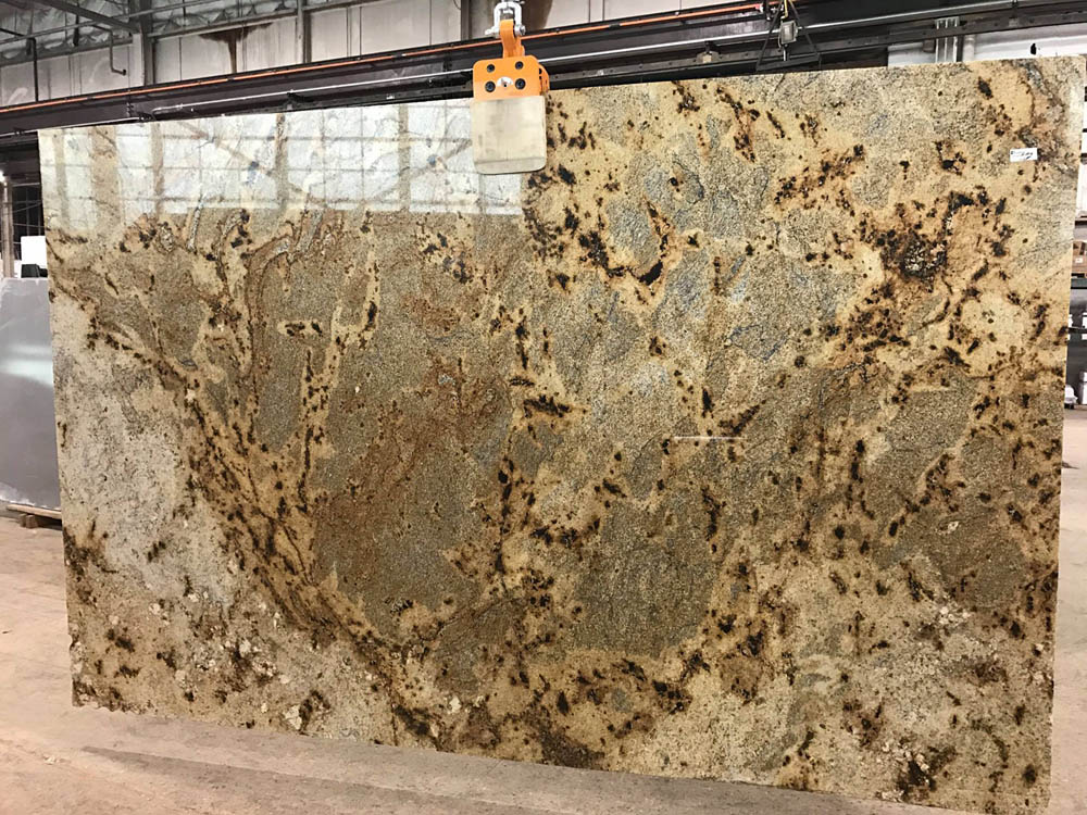 Golden Crystal Slab Polished Granite Slabs